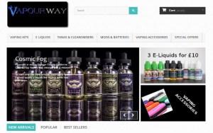 vapour-way website design