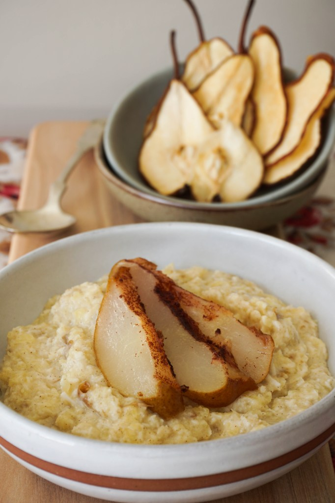roasted pear oatmeal