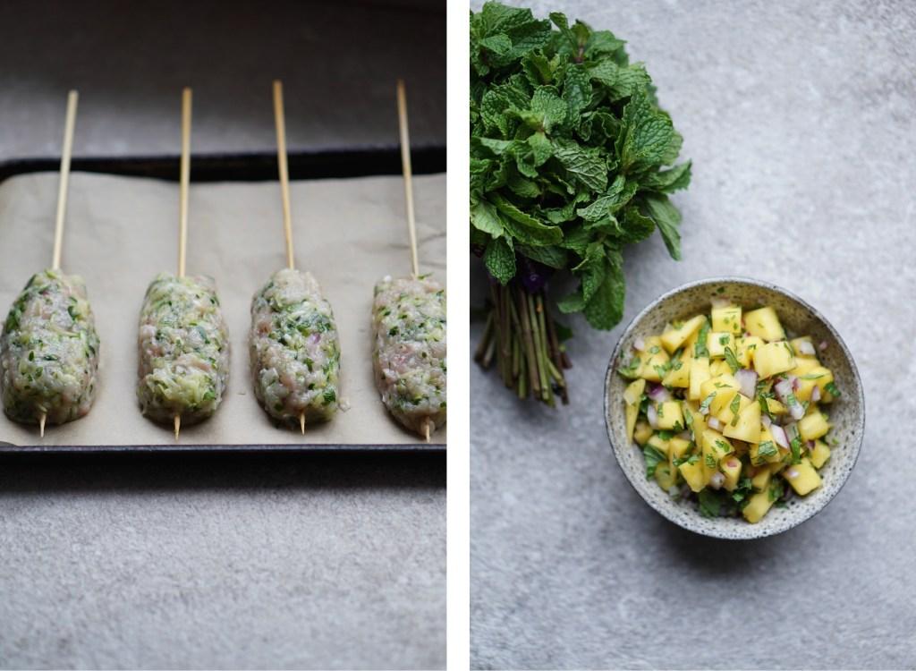 Herbed Chicken Kofta Collage