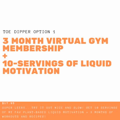1 Year Virtual gym membership + 1-month wellness formula + simple Nutrition(2)