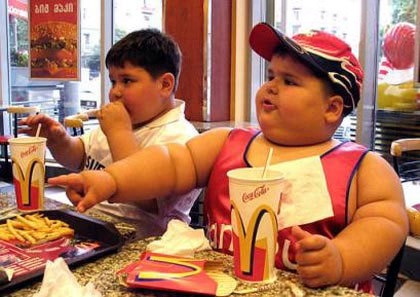 fat kid Obesity = Cancer
