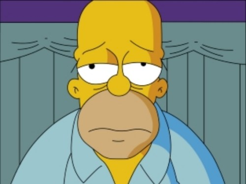 sad homer The Link between Belly Fat, Depression, Diabetes and Cardiovascular Disease