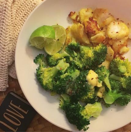 broccoli and cod