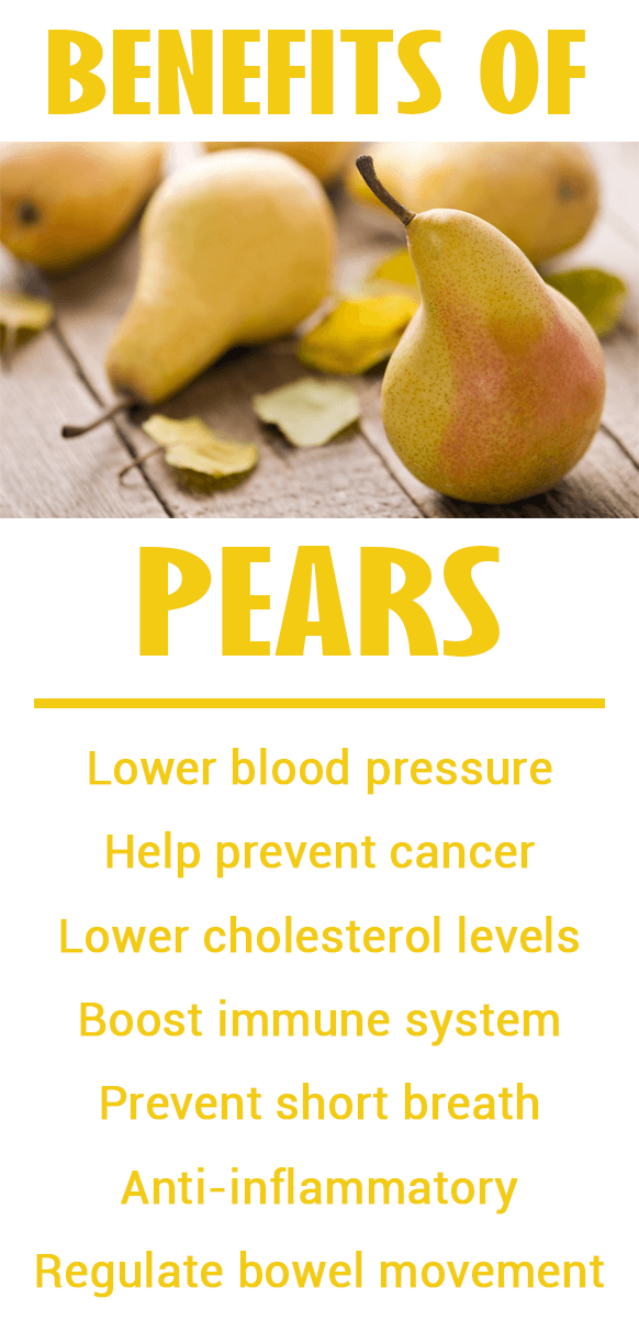 pears benefits