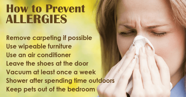 tips to prevent allergies