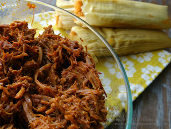 Pork Tamale with Ancho Chile Sauce Image
