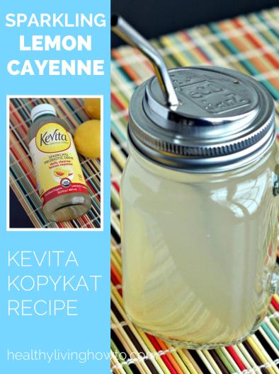 Kevita KopyKat Recipe Sparkling Lemon Cayenne | healthylivinghowto.com