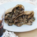 buckwheat crepe with mushrooms