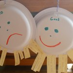 frowning and smiling plates to reinforce good behavior