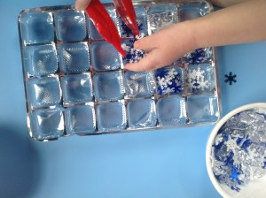 Winter sorting activities, Montessori