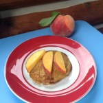 healthy buttermilk peach pancakes