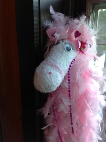 Glamorous Sock Horse closeup