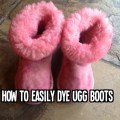 How to easily dye ugg boots with rit