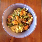 (Gluten-Free) Pasta with Garden Vegetables