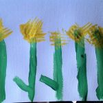 Painted Daffodils with a Fork