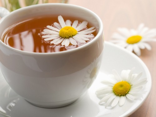 1.Soak In Some Chamomile Tea