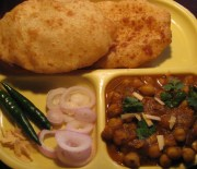 Instant Bhatura with soda water