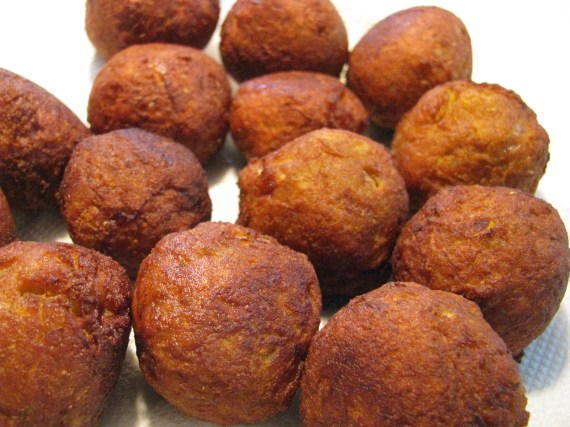 fried laufi koftas