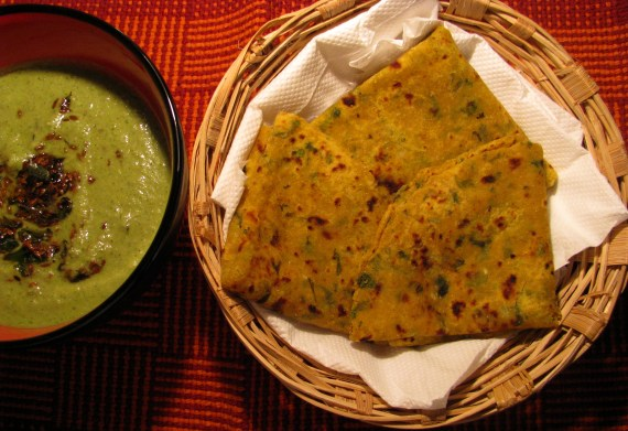 easy aloo paratha or thepla