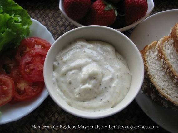 how to make veg mayonnaise at home