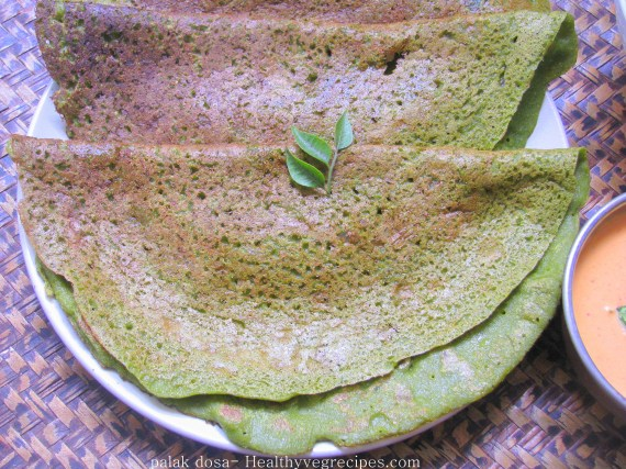 palak dosa recipe for people suffering from diabetes