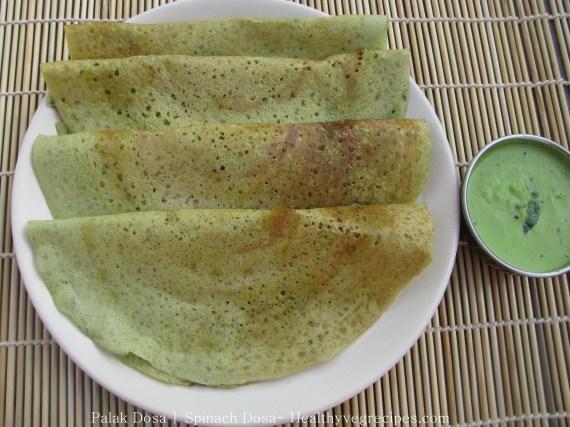 Palak Dosa recipe