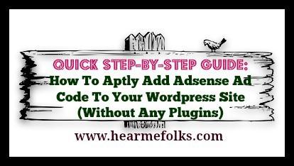 how to add adsense ad code to wordpress