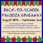 Enter to win the Back-to-School Palooza Giveaway