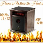 One lucky winner will receive this Logan Portable Infrared heater in the Home is Where the Heat is giveaway event
