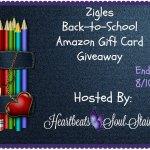 Zigels Back-to-School Amazon Gift Card #Giveaway + HOP #backtoschool #bts