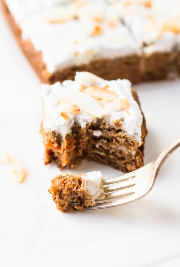Paleo Special Frosted Applesauce Cake