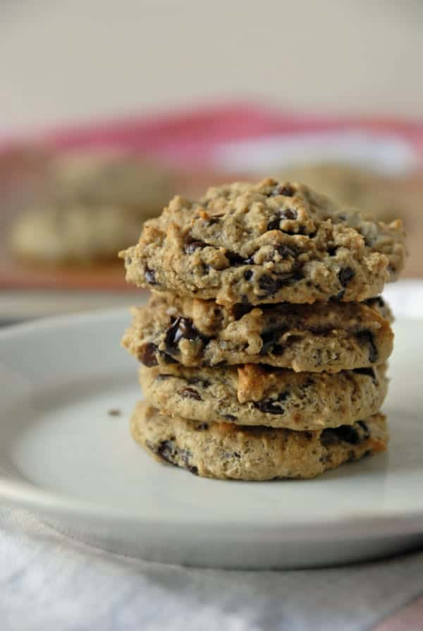 No Oil Double Chocolate Chip Cookies