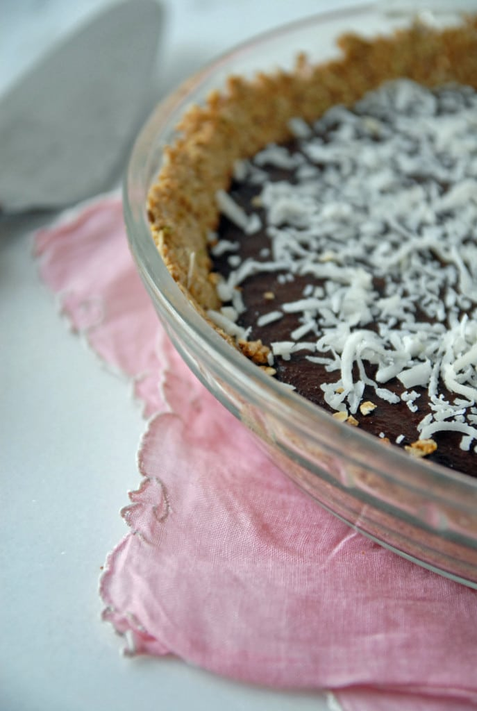 Chilled Chocolate Espresso Torte with Toasted Hazelnut Crust