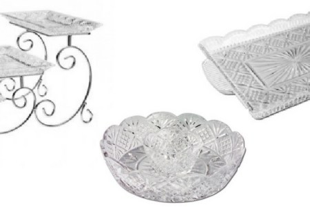 Crystal Serving Trays & Platters