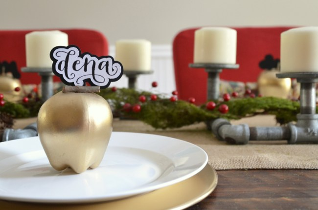 Gold Apple Place Cards