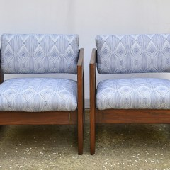 Danish Chair Makeover   General Finishes Stain and Nate Berkus Fabric   Hearts & Sharts