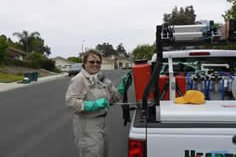 Stevie Hansen, pest control consulting technician has been winning rave service reviews.