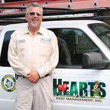 Curtis, supervisor at Hearts Pest Management