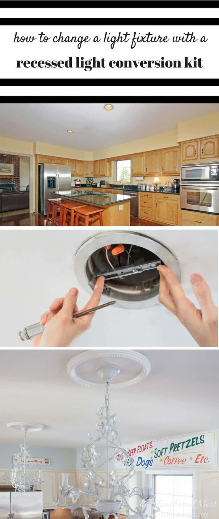 Irresistible How To Change A Light How To Change A Light Fixture Using A Recessed Light Conversion Kit Recessed Light Conversion Kit Westinghouse Recessed Light Conversion Kit Australia Tutorial houzz-03 Recessed Light Conversion Kit