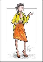 Fashion illustration inspired by Chris Benz