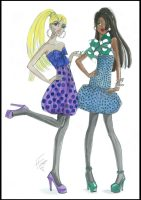 Polka Dot Party Dresses by Heather Fonseca