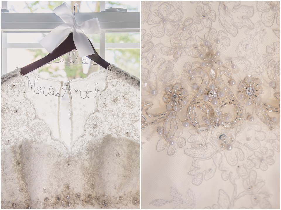 south jersey wedding photographer, wedding gown hanger