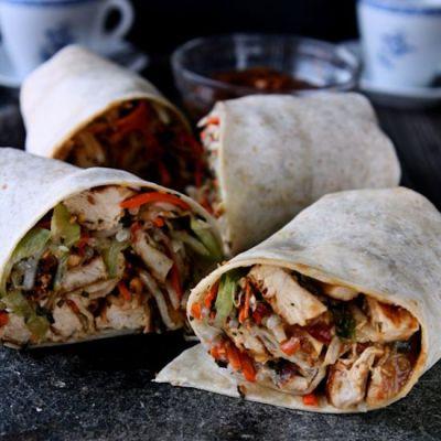 Thai-Inspired Chicken Wraps