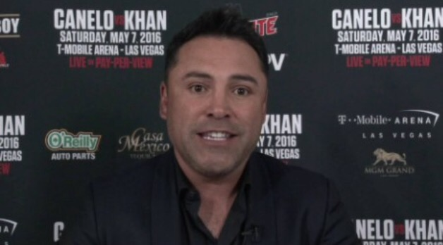 Oscar De La Hoya challenges Donald Trump to come see firsthand 'what Mexicans and Muslims can achieve' on May 7 with Canelo vs. Khan