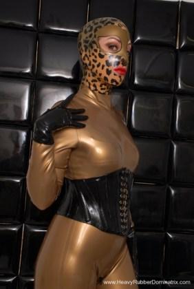 heavy rubber femdom