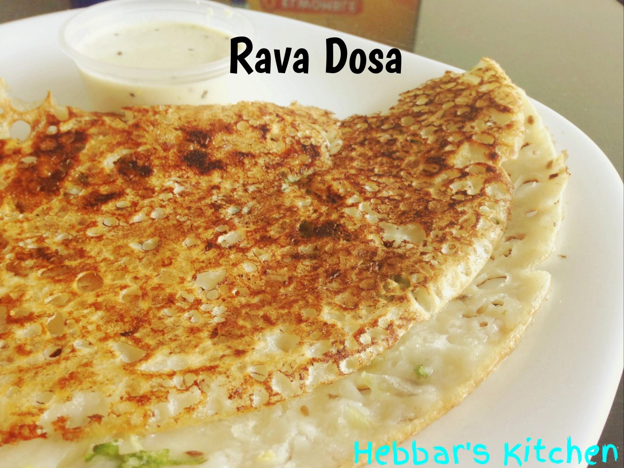 Onion Rava Dosa Hebbar S Kitchen