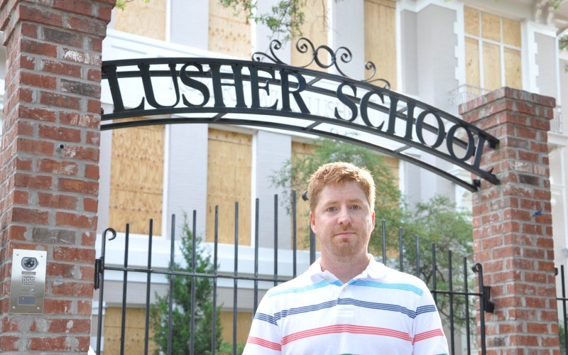 Jacob Landry stands in front of Lusher Charter School's lower campus. Landry is seeking the name of the admissions test the school asks some prospective kindergarten students to take which factors into admission. Lusher, located in New Orleans, is one of a handful of selective admission charter schools in the country.