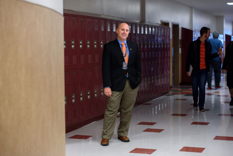 Brian Stack is the principal of Sanborn Regional High School in Kingston, N.H.