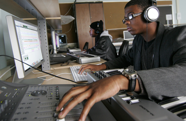 Tristan Wright-Crishon works in a music technology lab at Queensborough Community College.