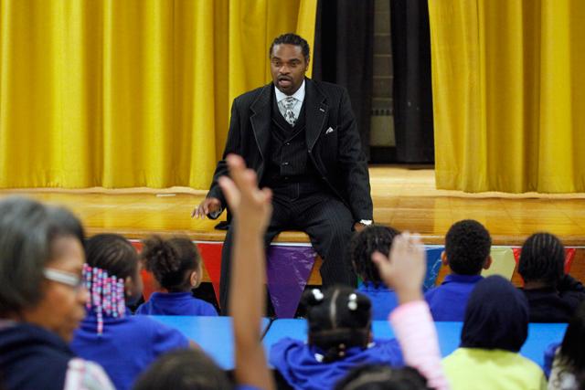 Erskine Glover wants to see Quitman in demand like Newark's top charter schools. (Amanda Brown / NJ Spotlight)